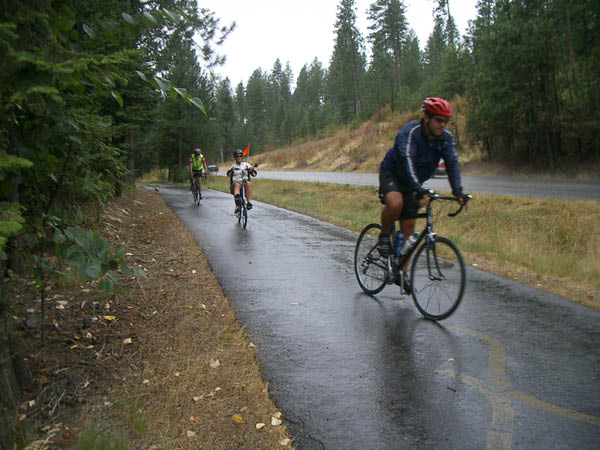 Rain on the bike path