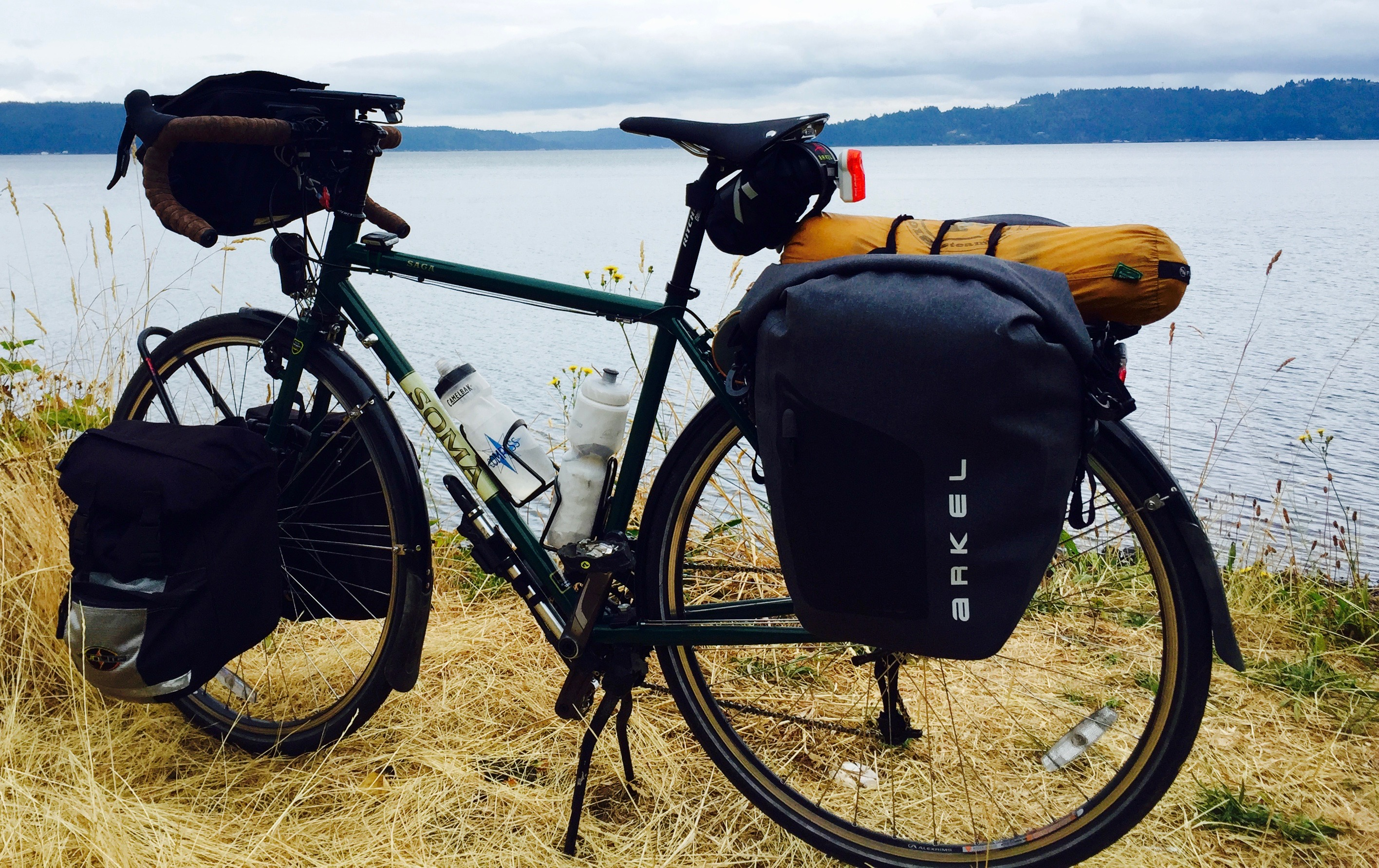 Soma Saga with Arkel Orca panniers