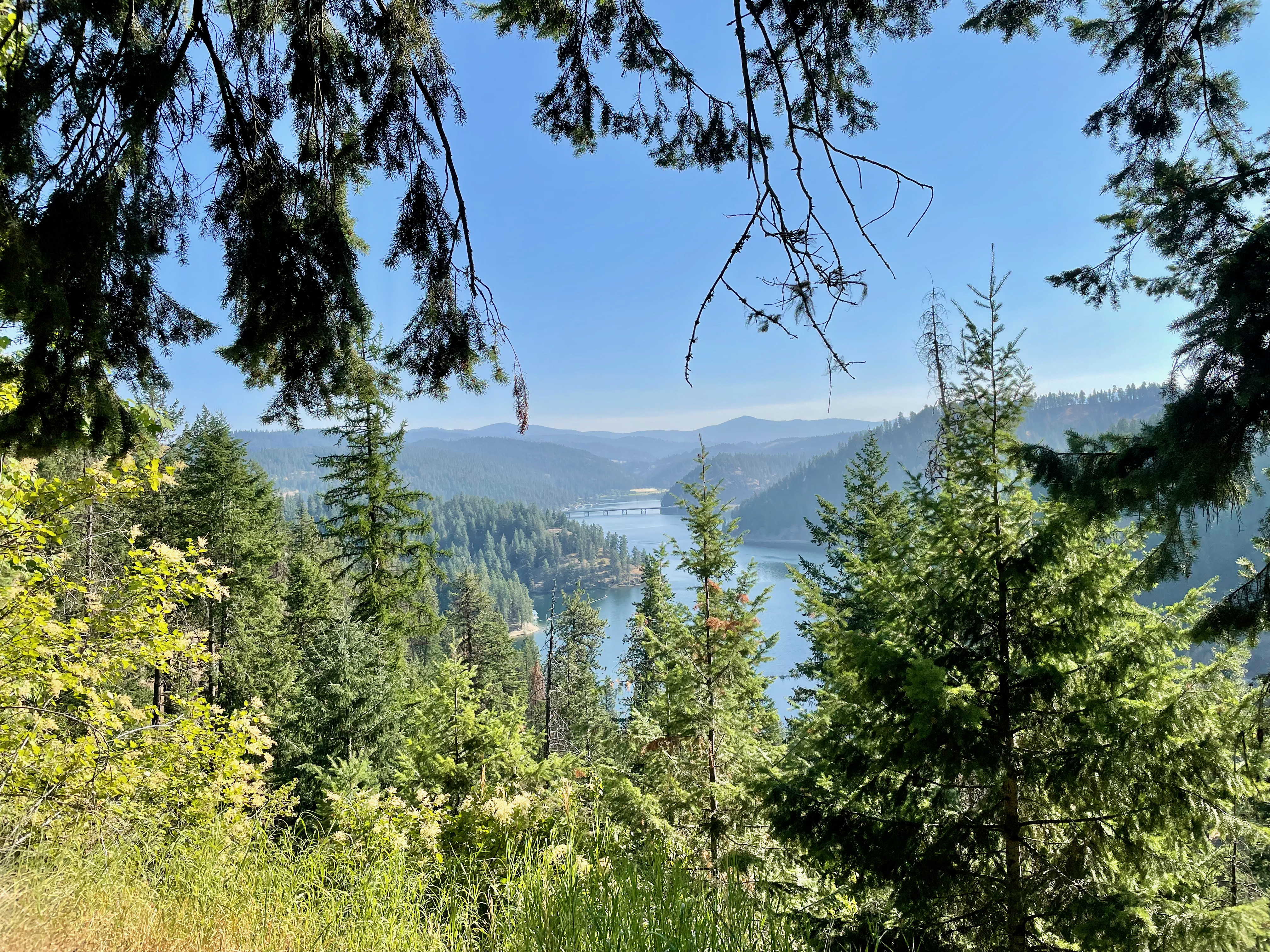 High above lake Coeur d'Alene
