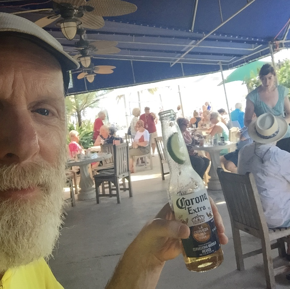 Having a beer in Key West