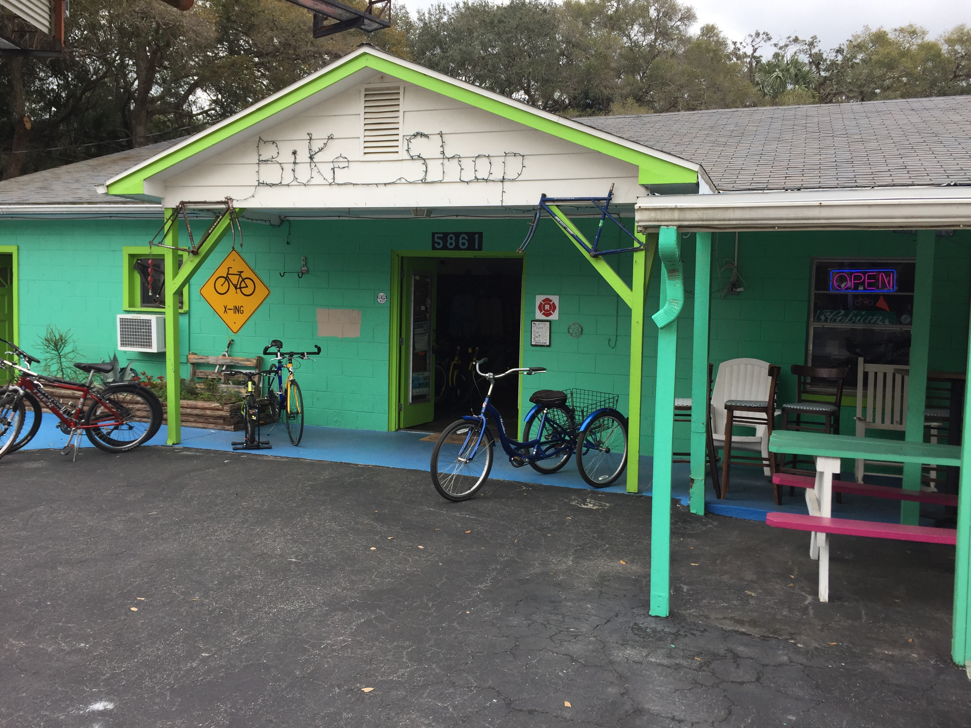 Nice bike shop along the path