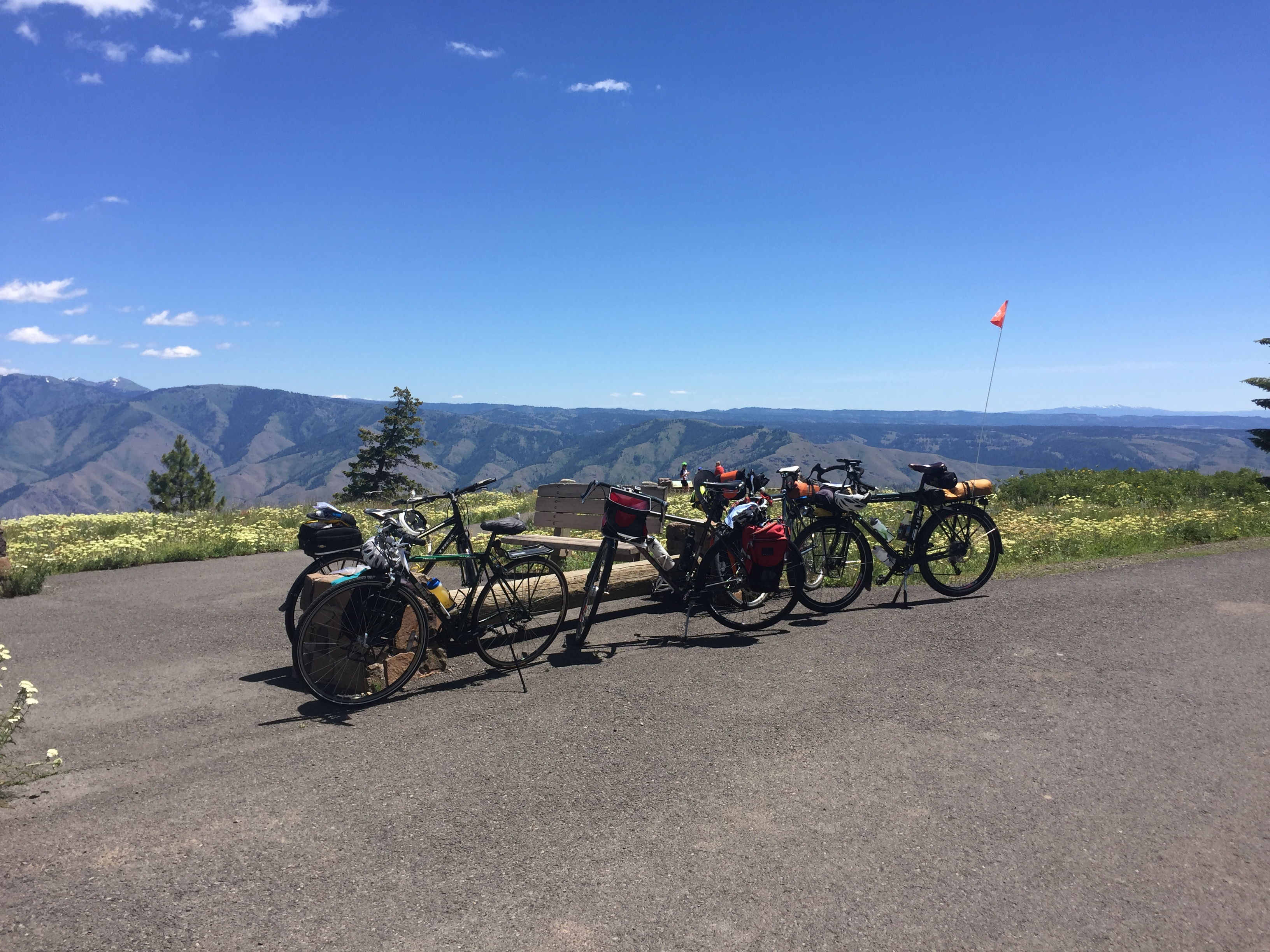 Bikes at Snake River Overlook