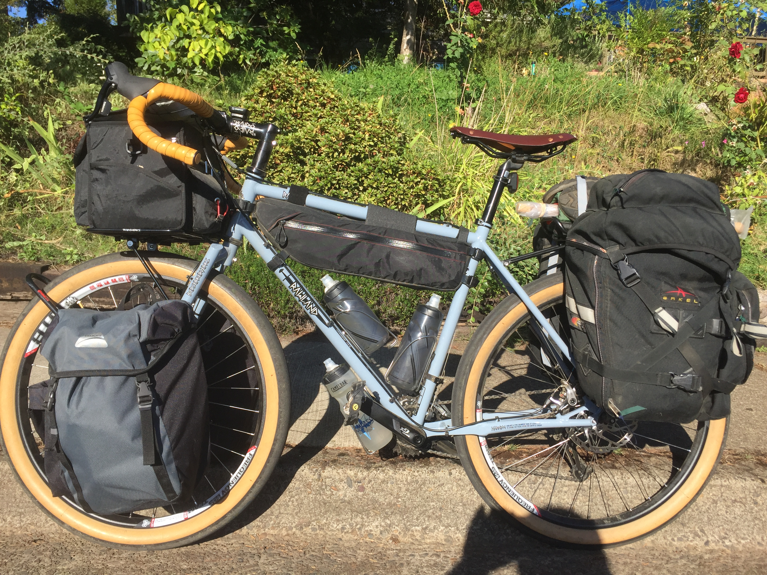 Loaded touring bike