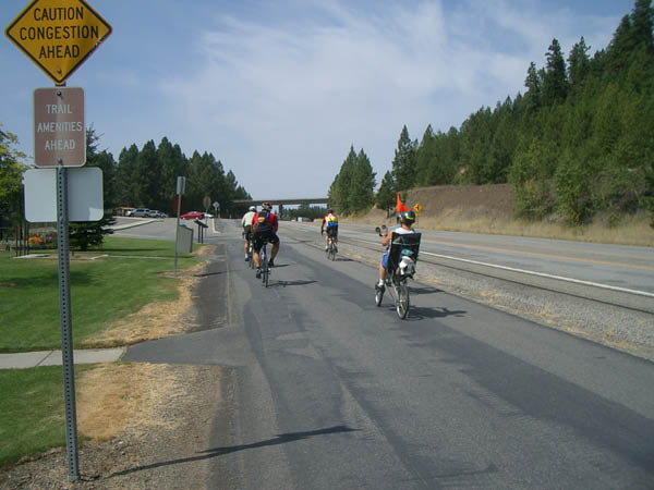 Riding into Coeur d'Alene