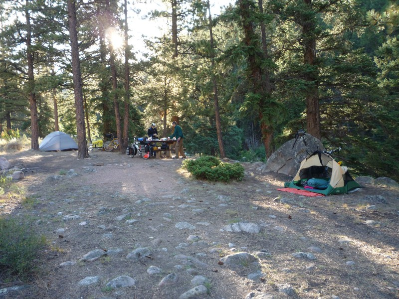 Campsite at Taylor River
