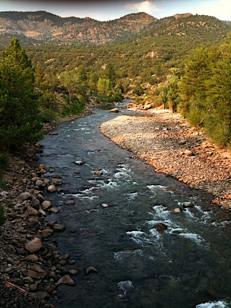The Arkansas river