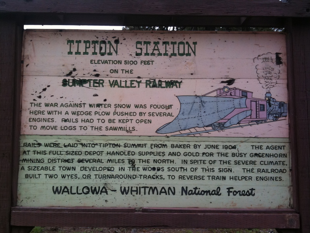 Sign at Tripton Pass