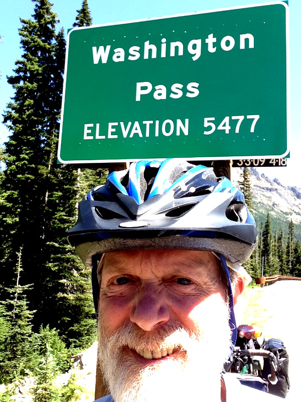 At the top of Washington Pass