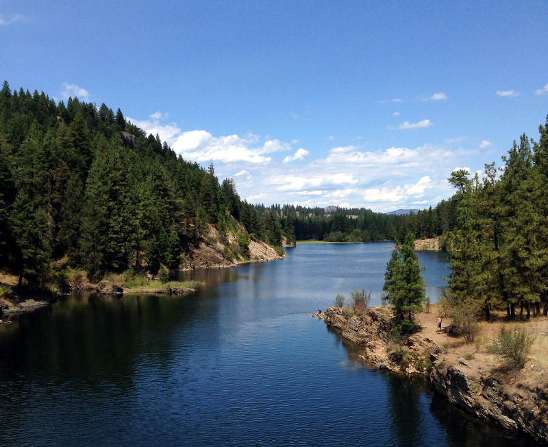 The Kettle River just before it joins the Columbia at Lake Roosevelt.