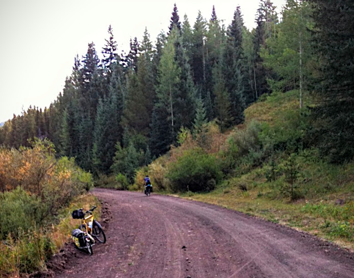 Gravel road up Marshall Pass
