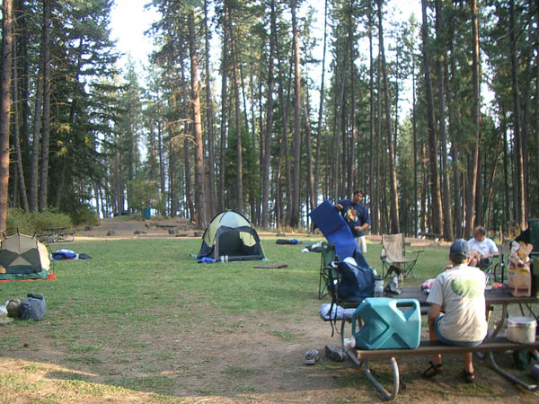 Campsite on Lake Coeur d'Alene