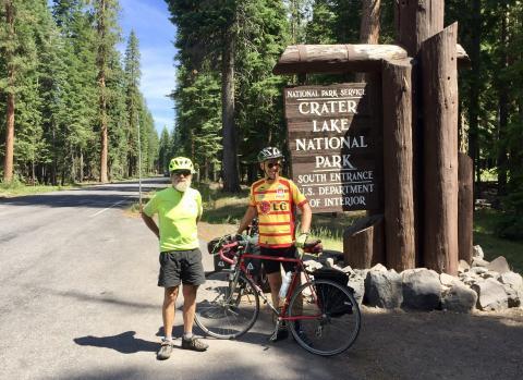 Rick and I at Crater Lake Park
