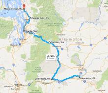 Map of 2016 Washington ride