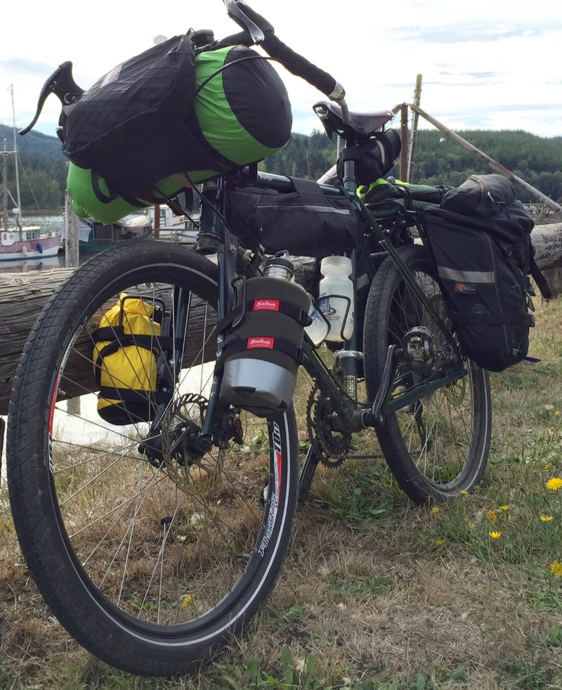 Surly Disc Trucker with Schwalbe Big Ben tires