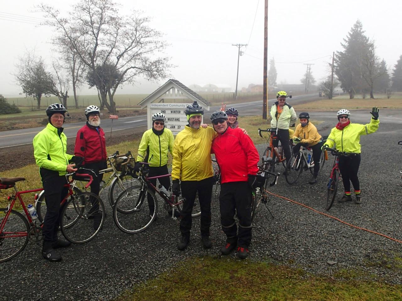 Tenners on a foggy ride